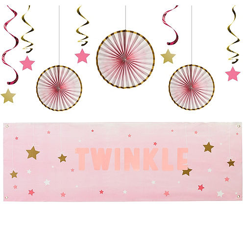 Pink Twinkle Twinkle Little Star Decorating Kit Image #1