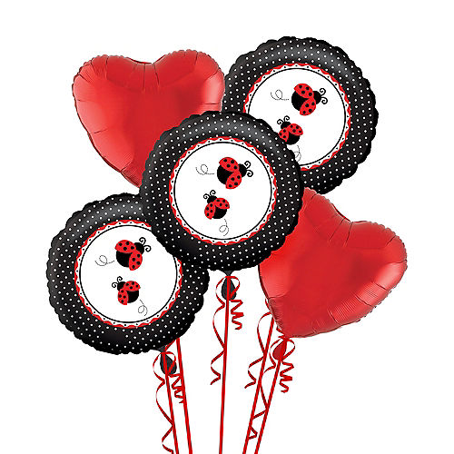 Nav Item for Fancy Ladybug 1st Birthday Balloon Bouquet Image #1