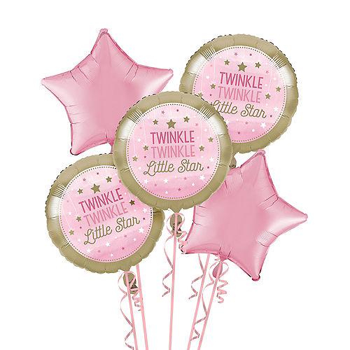 Pink Twinkle Twinkle Little Star Balloon Bouquet Image #1