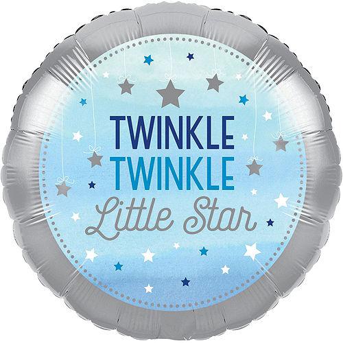Blue Twinkle Twinkle Little Star Balloon Bouquet Image #3