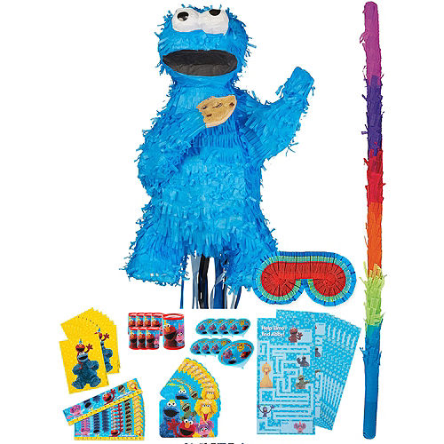 Cookie Monster Pinata Kit with Favors Image #1
