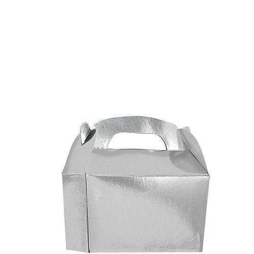 Metallic Silver Gable Boxes 24ct Image #1