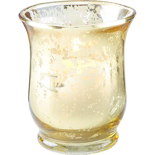 Gold Hurricane Mercury Glass Votive Candle Holders 6ct Image #2