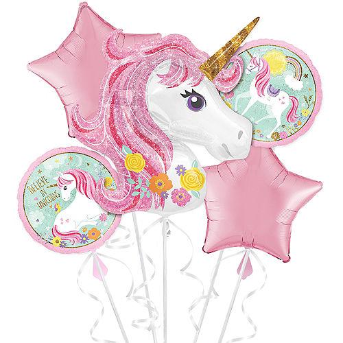 Magical Unicorn Balloon Bouquet 5pc Image #1