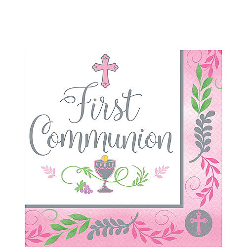 Girl's First Communion Lunch Napkins 36ct Image #1