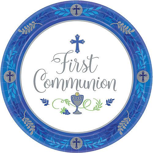 Boy's First Communion Dinner Plates 18ct Image #1