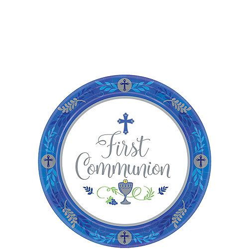 Boy's First Communion Dessert Plates 18ct Image #1
