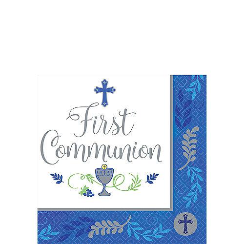 Boy's First Communion Beverage Napkins 36ct Image #1