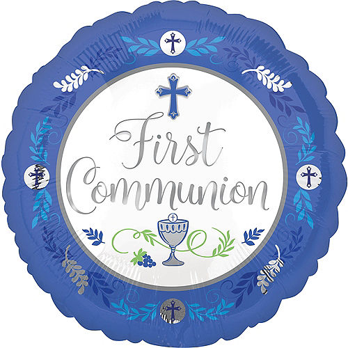 Boy's First Communion Balloon, 17in Image #1