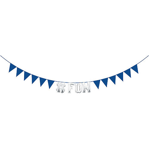 Create Your Own Royal Blue Pennant Banner Image #2