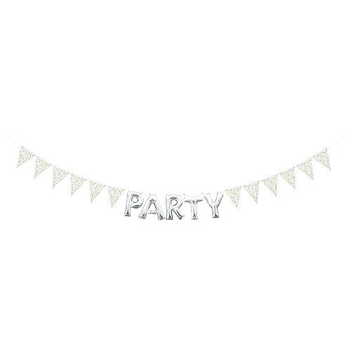 Create Your Own Rainbow Polka Dots Pennant Banner Image #2