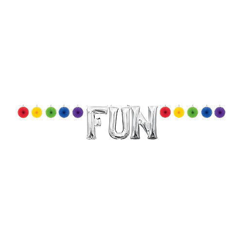 Mini Create Your Own Rainbow Paper Fan Banner, 4in Image #2