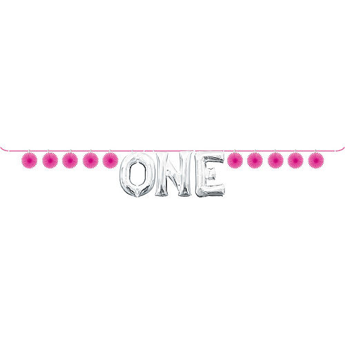 Mini Create Your Own Pink Paper Fan Banner, 4in Image #2
