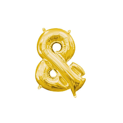 Air-Filled Gold Ampersand Balloon Image #1