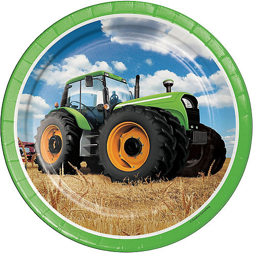 Tractor Lunch Plates 8ct Image #1