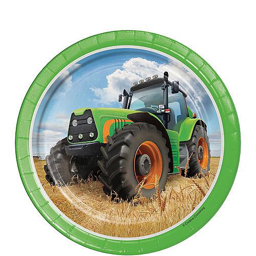 Tractor Dessert Plates 8ct Image #1