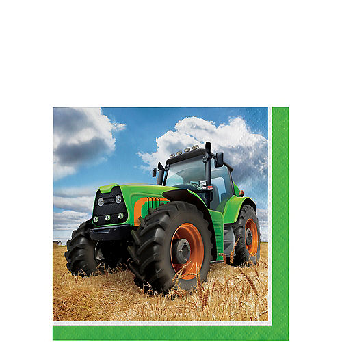 Tractor Beverage Napkins 16ct Image #1