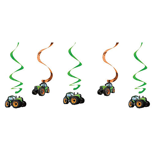 Tractor Swirl Decorations 5ct Image #1