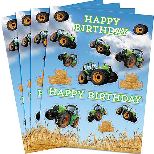 Tractor Stickers 4 Sheets Image #1