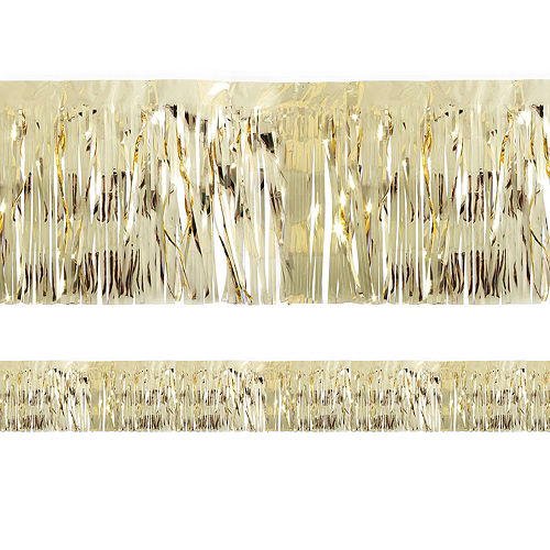 Metallic Gold Tinsel Fringe Image #1