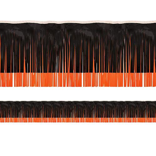 Black & Orange Fringe Decoration Image #1