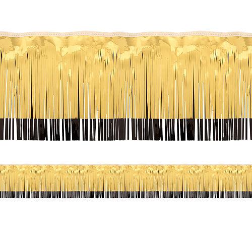 Black & Gold Tinsel Fringe Image #1