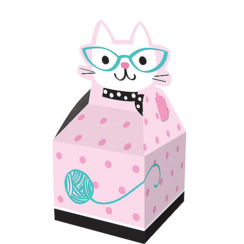 Purrfect Cat Favor Boxes 8ct Image #1