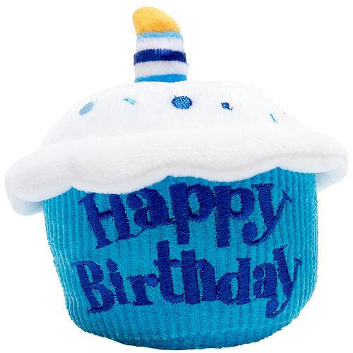 Singing Blue Happy Birthday Cupcake Plush Image #1