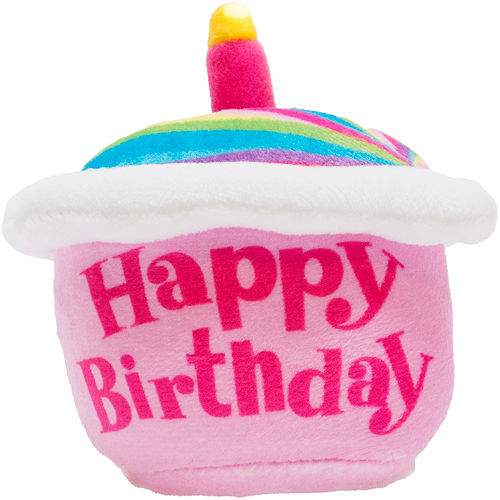 Singing Rainbow Happy Birthday Cupcake Plush Image #1