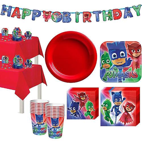 PJ Masks Tableware Party Kit for 16 Guests Image #1