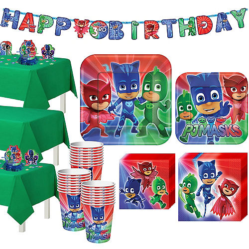 PJ Masks Tableware Party Kit for 24 Guests Image #1