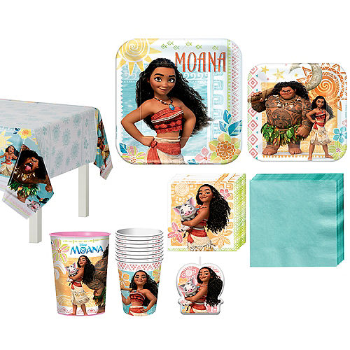 Moana Tableware Party Kit for 8 Guests Image #1