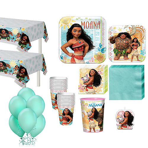 Moana Tableware Party Kit for 16 Guests Image #1