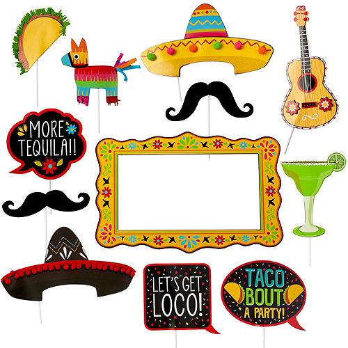 Jumbo Fiesta Photo Booth Props 12ct Image #1