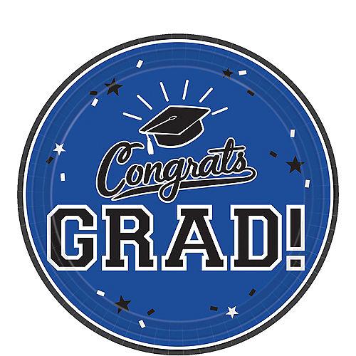 Blue Congrats Grad Dessert Plates 18ct Image #1