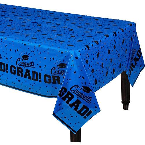 Blue Congrats Grad Table Cover Image #1