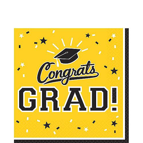 Yellow Congrats Grad Lunch Napkins 36ct Image #1