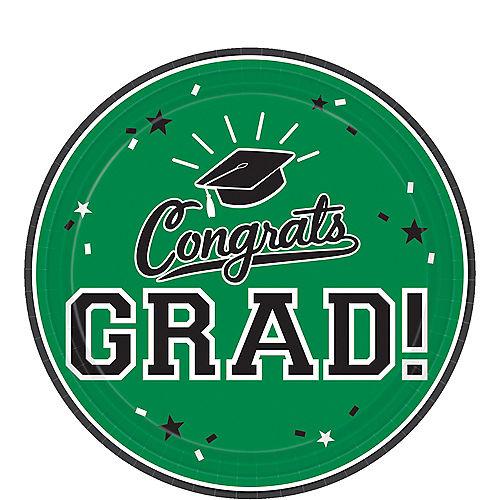 Green Congrats Grad Dessert Plates 18ct Image #1