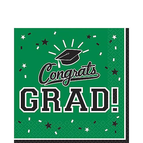 Green Congrats Grad Lunch Napkins 36ct Image #1