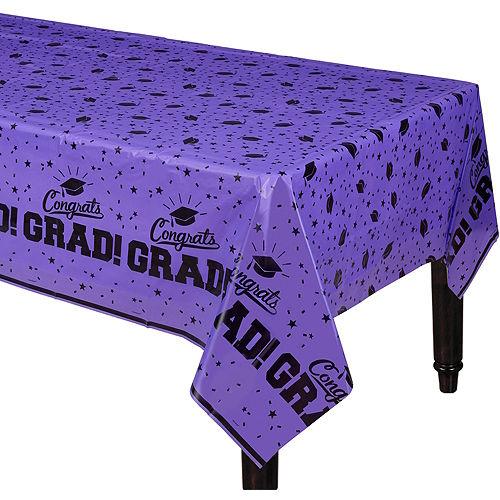Purple Congrats Grad Table Cover Image #1