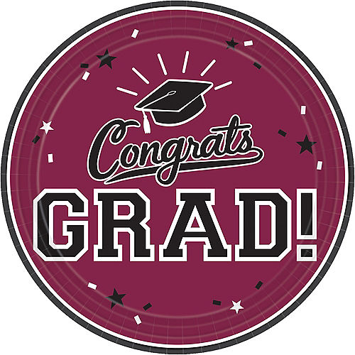 Berry Congrats Grad Lunch Plates 18ct Image #1