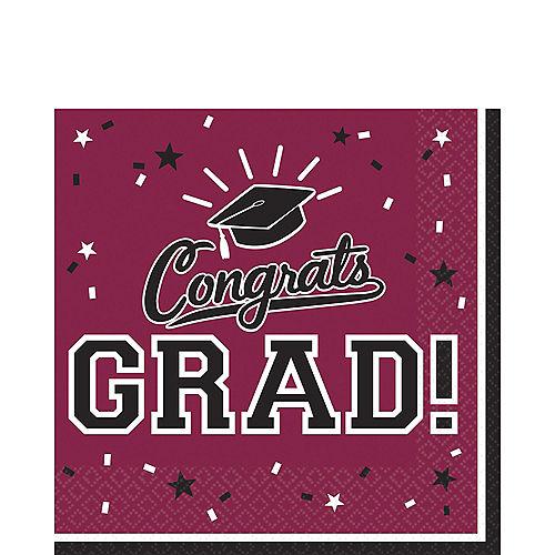 Berry Congrats Grad Lunch Napkins 36ct Image #1