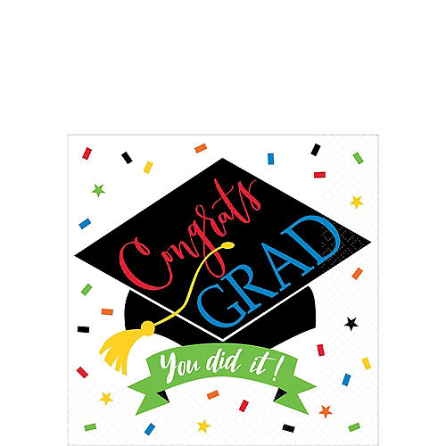 You Did It Grad Beverage Napkins 125ct Image #1