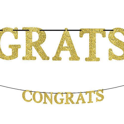 Glitter Gold Congrats Letter Banner Image #1