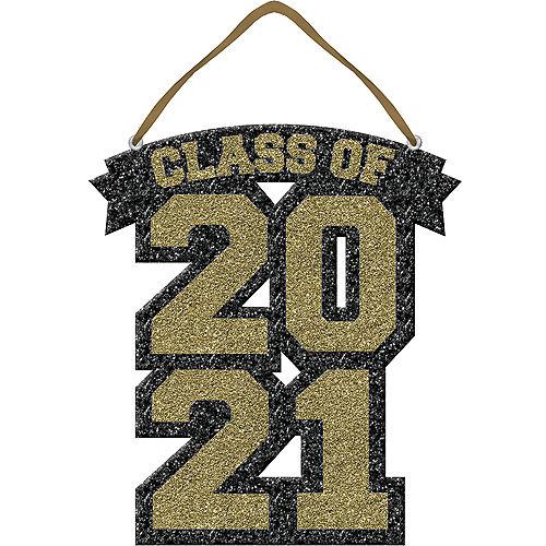 Glitter Gold Class of 2021 Foam Graduation Sign Image #1