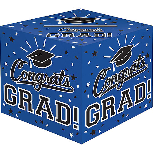Blue Congrats Grad Card Holder Box Image #1