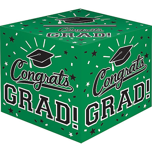Nav Item for Green Congrats Grad Card Holder Box Image #1