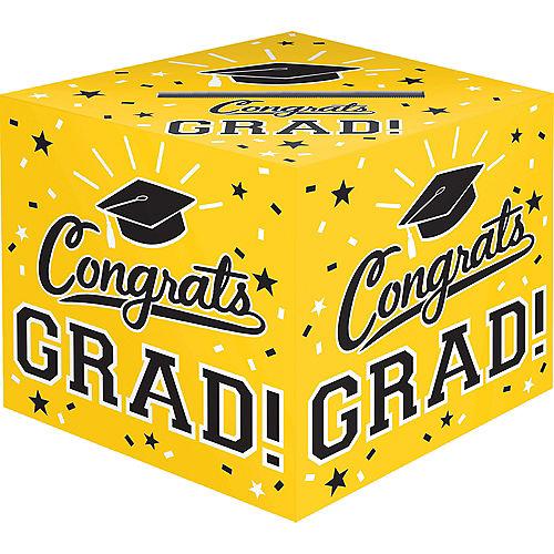 Yellow Congrats Grad Card Holder Box Image #1