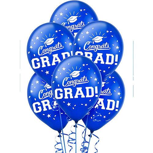 Blue Congrats Grad Balloons 15ct Image #1