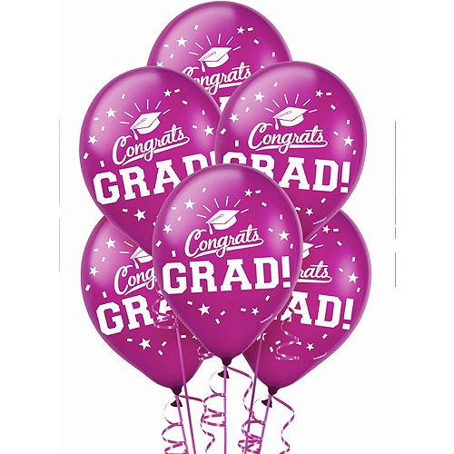 Berry Congrats Grad Balloons 15ct Image #1